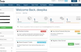 Domain India Client Area