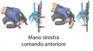 3 - uso del comando anteriore, mano sinstra
