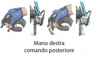 4 - uso del comando posteriore, mano destra