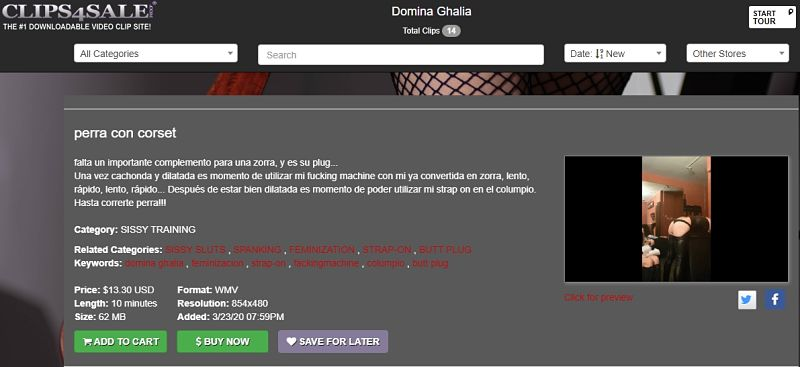 clips4sale Domina Ghalia