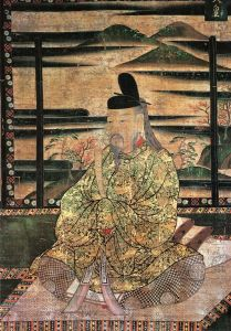 Very old painting of Emperor Saga of Japan.