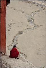Buddhist Monk in India by Flickr user nevil zaveri, CC BY-2.0