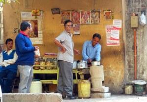 Small tea vendor in India