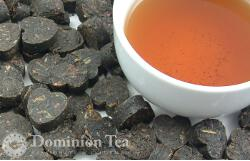 Compressed dark tea though not technically pu-erh tea.
