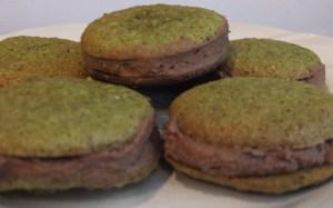 Fresh Macaroons Made with Matcha
