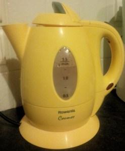 Yellow Electric Tea Kettle