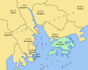 Guangzhou, Guangdong, China - One of the largest ports in China