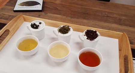 Cupping teas in flight for comparison is a fun way to explore new flavors.