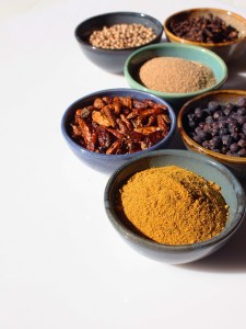 Herbs and spices to create your own tea blend.