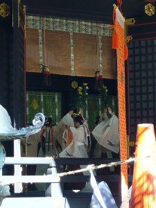 Labor Thanksgivig Niiname-sai dance Katori Jingu Shrine, Katori City, Japan