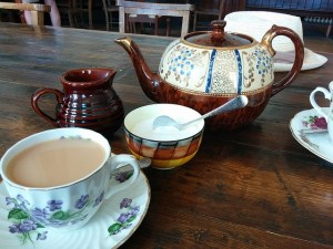 Tea with Creamer and Sugar