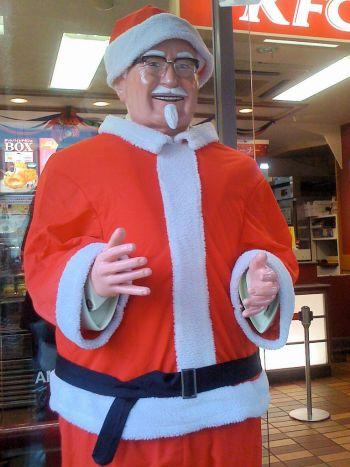 Col. Sanders are Santa in Japan