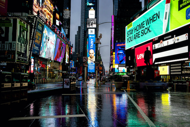 Times Square, New York: Full of lights, but without a pulse, by Todd Heisler for The New York Times