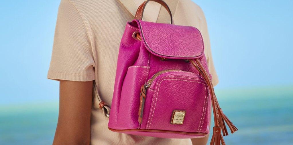 pink leather backpack bag