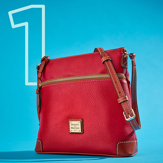 The Pebble Grain Crossbody in red, one of our top five bags of 2020.