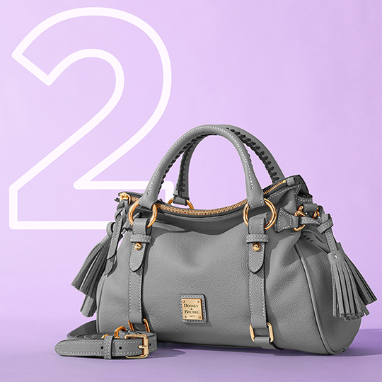 The Sorrento Small Satchel in grey, one of our top five bags of 2020.