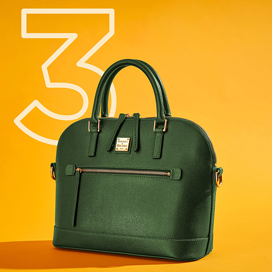 The Saffiano Domed Satchel, one of our top five bags of 2020.