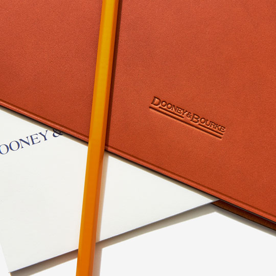 Our desk accessories crafted from fine-grain leather.
