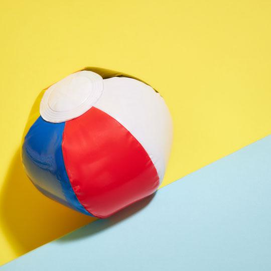 A beach ball.