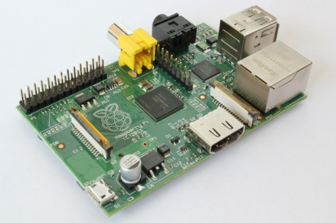 Photo du Raspberry Pi (modèle B)