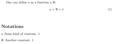 Exemple d'utilisation de la nomencalture