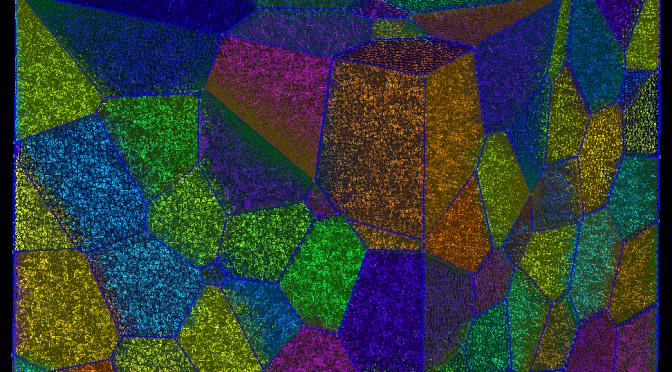 Pavage de Laguerre-Voronoï et mailllage des volumes