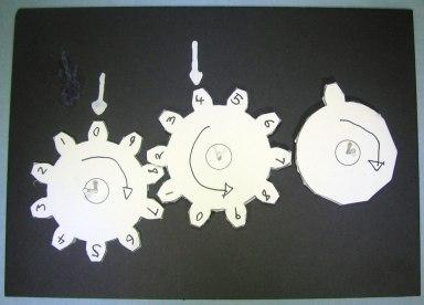 Three interlocking gears