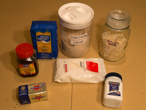 The ingredients for the recipe.