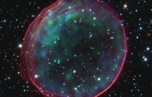 Image of a supernova remnant taken by the Hubble Space Telescope