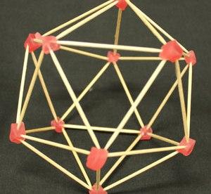 an icosahedron.