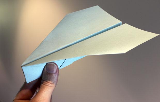 Paper plane.