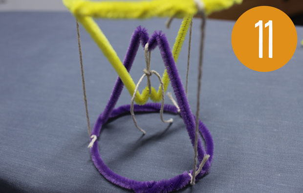 Pipe cleaner and string shape.