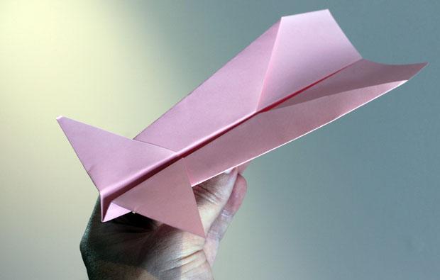 Pink paper plane.