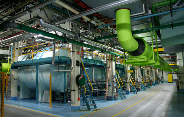 Several large tanks and pipes