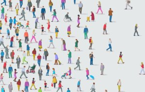 an illustration of a crowd of people