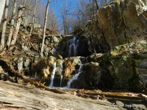 photograph of the upper falls of the Doyles River in Shenandoah National Park