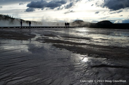 photograph of the board walk around Grand Prismatic Spring at Yellowstone National Park