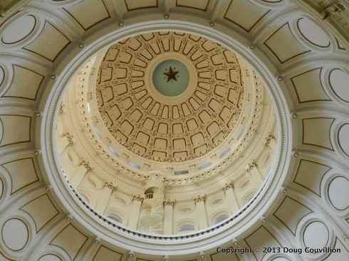 photograph of the interior of the Texas Capital dome