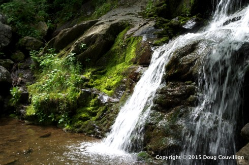 photograph of a mountain stream and waterfall in Shenandoah National Park, Virginia, USA