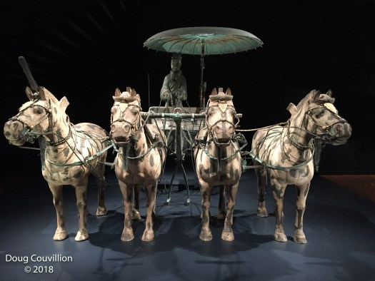 photograph of a chariot from the Terra Cotta Soldiers exhibit at the Virginia Museum Of Fine Arts by Doug Couvillion