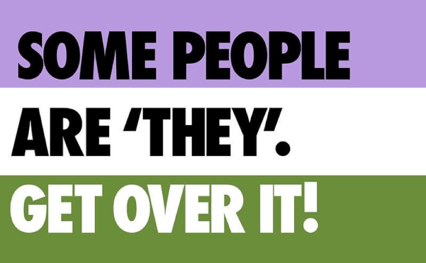 """image that says """"some people are they, get over it!"""""""
