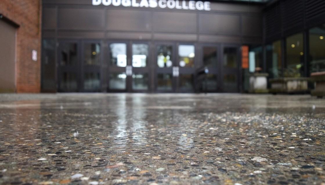 Douglas College rainy days Winter 2018