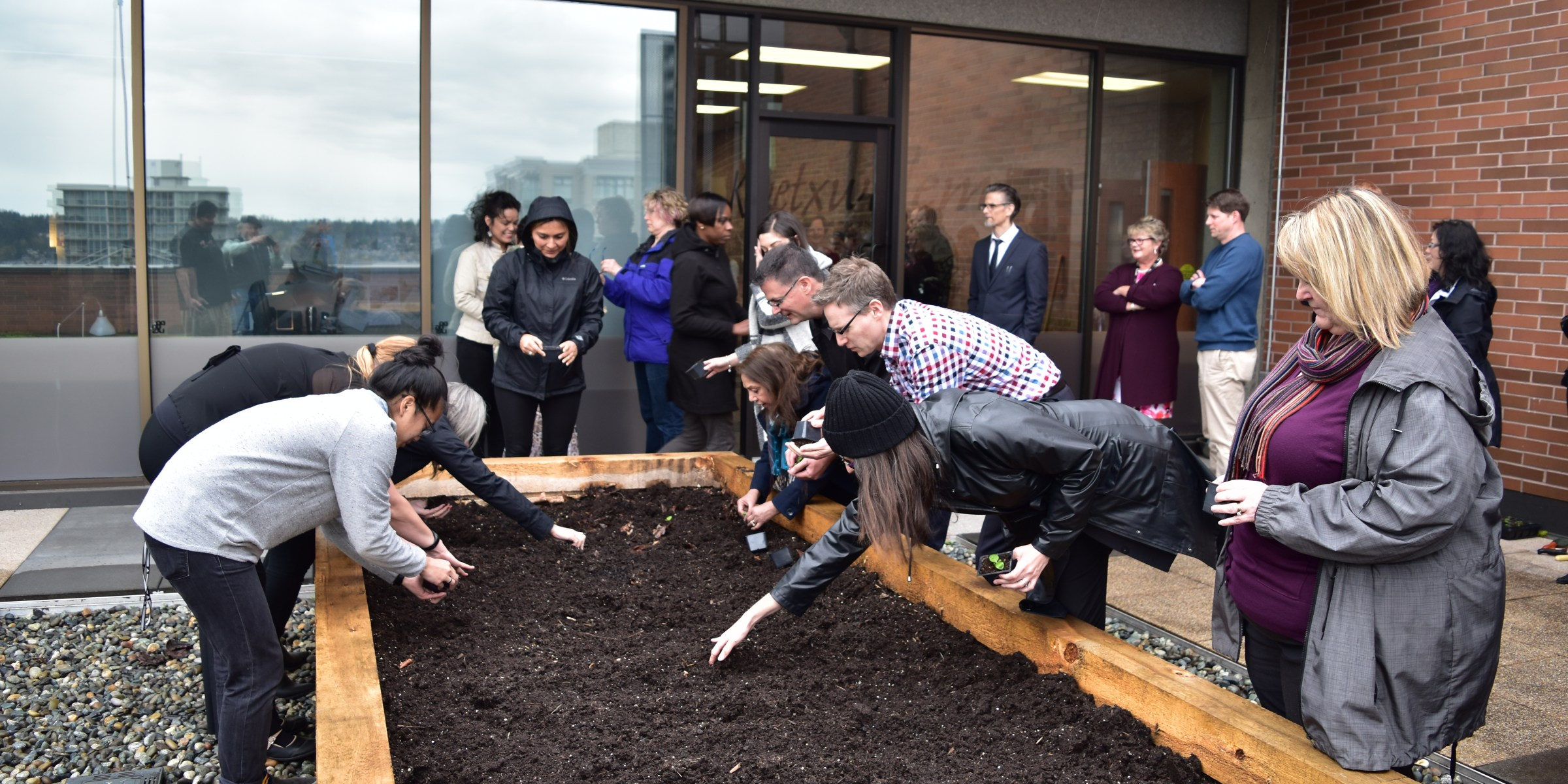 College community members plant Aboriginal Garden at New Westminster Campus