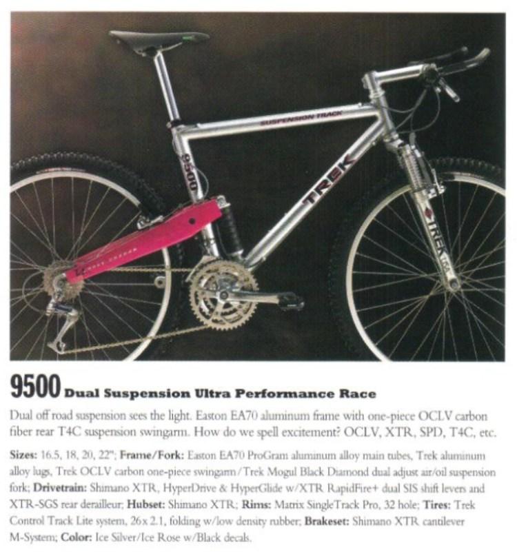 Imagem da TREK 9500 retirada de catálogo da época.