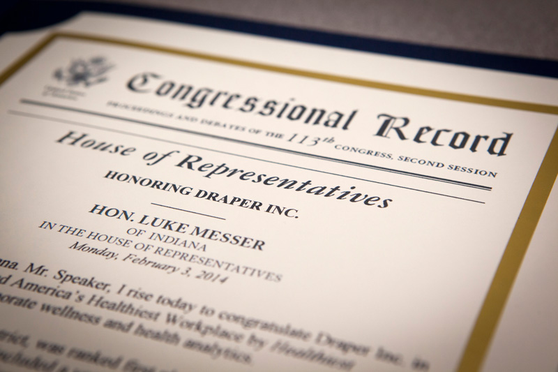 Congressman Luke Messer Visits Draper