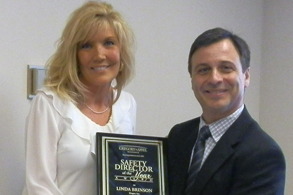 Linda Brinson Safety Director of the Year