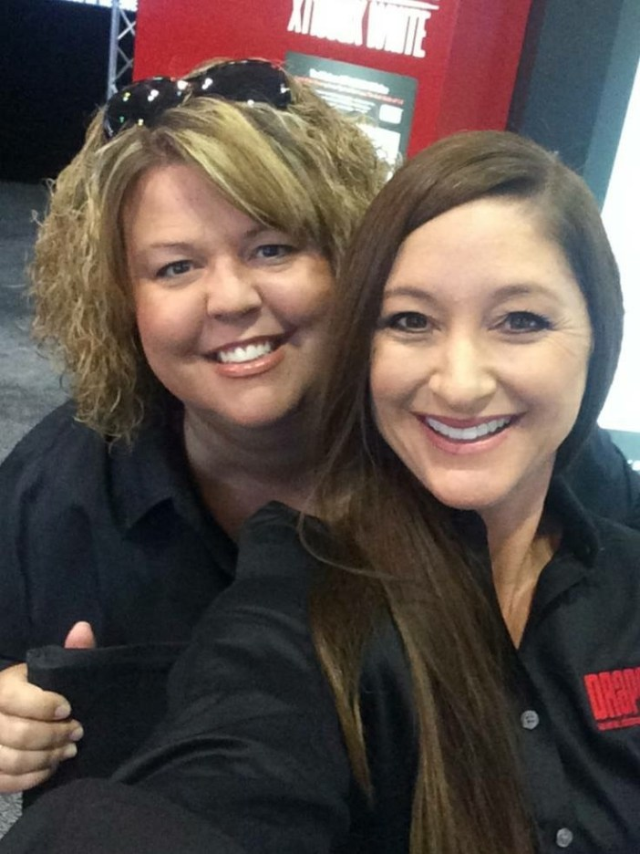 Amy and Gretchen Donaldson at InfoComm.