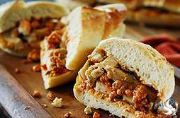 Buffalo Chicken French Bread