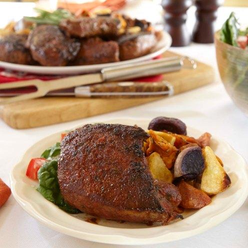 Grill House Steaks Roasted Heirloom Potatoes