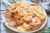 Dill Marinated Shrimp Skewers